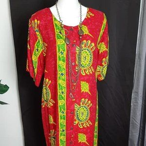 Indian Tropical Fashion Dress Coverup - Size Large